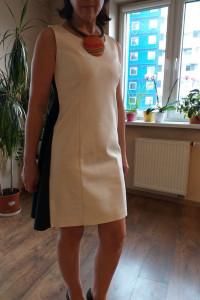 Czarno Biała sukienka suknia Simple 36...
