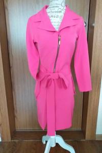 Płaszcz płaszczyk tunika różowa A Rudzka XS...