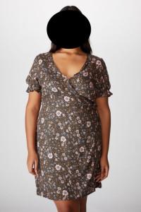 Cotton on sukienka wiązana kwiaty roz 44...