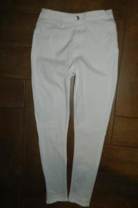 even&odd spodnie rurki biel wysoki stan roz 40
