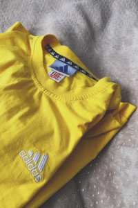 żółta koszulka tshirt sportowa modna adidas oversize hip hop sp...