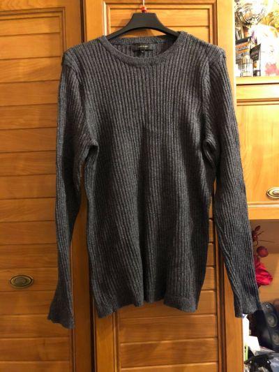 Swetry River Island szary prążkowany sweterek XL