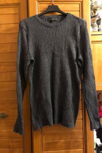 River Island szary prążkowany sweterek XL