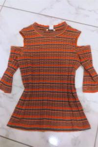 Pomarańczowa bluzka w paski Monki...
