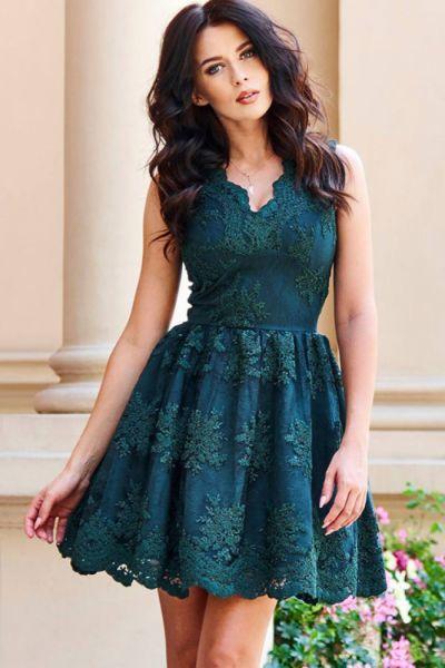 Suknie i sukienki Sukienka koronkowa haft 34 36 38 40 kolory 87