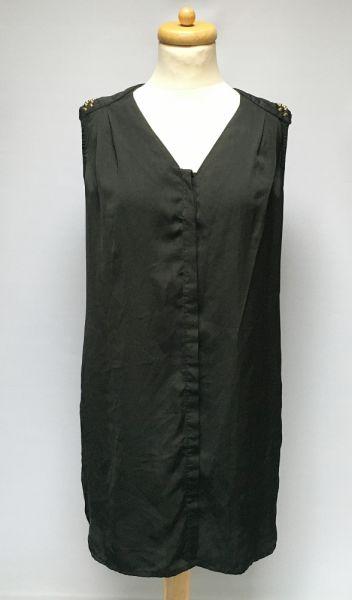 Bluzki Bluzka Czarna Gina Tricot S 36 Ćwieki Koszula Dłuższa