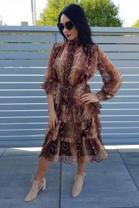 Danity Paris sukienka snake glamour wężowa szyfon 36 sexy