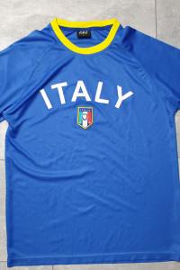 Niebieski T shirt Italy L