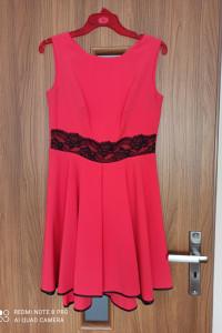 Sukienka wyjściowa wieczorowa czerwona koral L 40...
