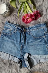 spodenki jeansowe szorty Sinsay...
