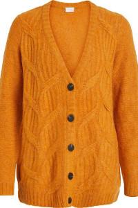 VILA ciepły sweter cardigan na guziki roz M...