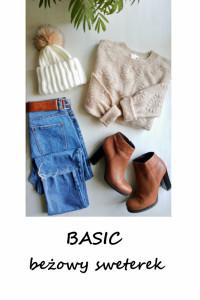 Basic beżowy sweterek...