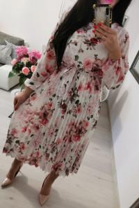 Sukienka plisowana midi kwiaty...