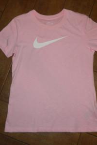 NIKE sportowy t shirt bluzka róż roz S