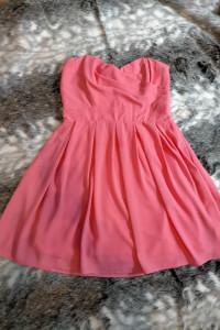 TFNC Sukienka różowa bez ramiączek 42