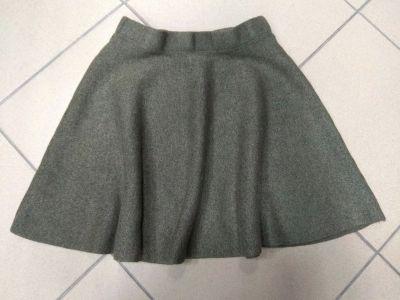 Spódnice Spódnica rozkloszowana khaki ciepła gruba Atmosphere 34 XS