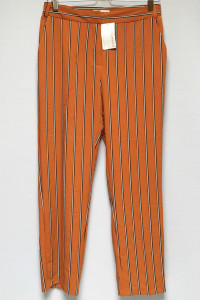 Spodnie NOWE Pomarańczowe Camaieu L 40 Proste Nogawki Paski...