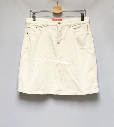 Spódnice Spódniczka Biała Biel Sztruksowa M 38 Marin Alpin Prosta