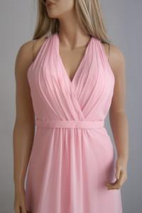 Suknia długa XXS XS wesele sylwester marszczenia różowa