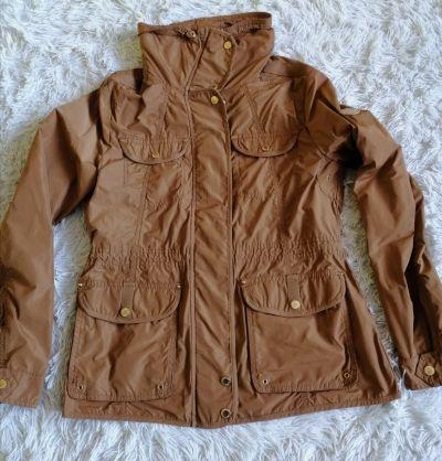 Odzież wierzchnia S Oliver kurtka wiosenna camel zlote guziki M