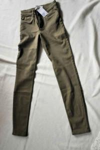 Nowe jeansy z metką H&M rozmiar 34 Khaki...