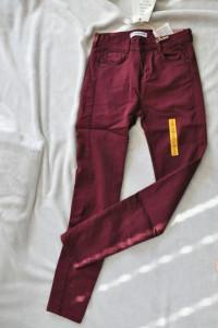 nowe spodnie push up pull&bear rozmiar S bordowe...