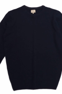 Sweter męski Lambswool wełniany Easy Granat M...