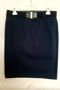 Granatowa ołówkowa spódnica Camaieu...