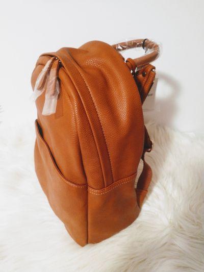 Plecaki Karmelowy koniakowy plecak Glamorous