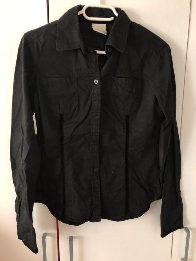 Koszule Czarna koszula z długim rękawem Umbro 36 taliowana