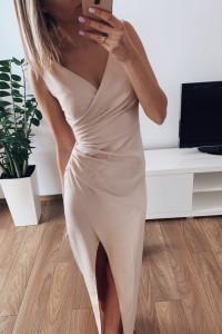 Nowa sukienka beżowa 36...
