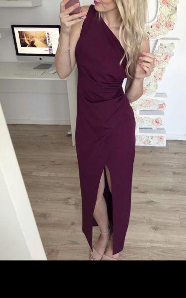 Suknie i sukienki Piękna elegancka bordowa suknia 36