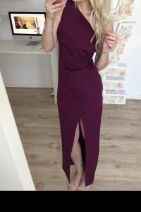 Piękna elegancka bordowa suknia 36...