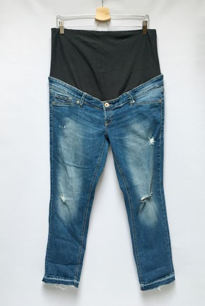 Spodnie Spodnie H&M Mama Dziury XXL 44 Dzinsowe Skinny Przetarcia