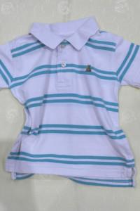 Polo koszulka biała w paski 92 98