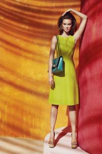 Sukienka Simple skórzana limonkowa 36...