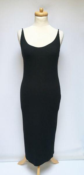 Suknie i sukienki Sukienka Ołówkowa Czarna Prążkowana H&M Long Maxi M 38