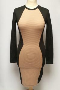 Sukienka H&M Nowa H&M Divided S 36 Czarna Prążkowana Ołówkowa...