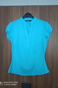 Bluzka FF niebieska turkusowa błękitna M 38