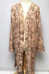 Narzutka Różowa Wzory Kimono Lindex XL 42 Kwiaty...