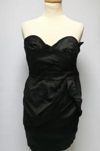 Sukienka Czarna Na Dekolt Odkryte Ramiona Tfnc M 38 NOWA...