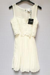 Sukienka NOWA Plisowana Asos Biała Koronkowa XS 34...