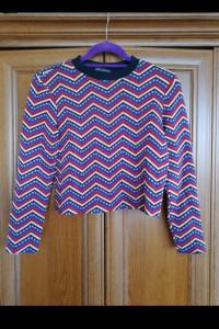 Kolorowa bluzka sweterek Zara...