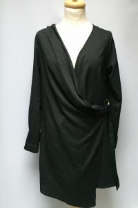 Sukienka Czarna Missguided NOWA S 36 Kopertowa...