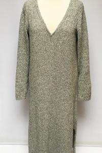 Sweter Sukienka Massimo Dutti XL 42 Melanż Rozporki Oversize