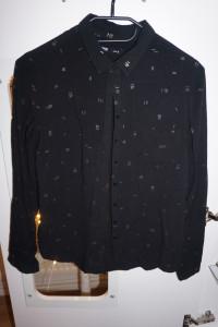 Koszula w zlote male paski sinsay S...