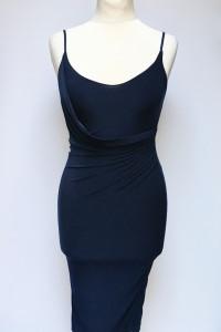 Sukienka NOWA Ołówkowa Missguided S 36 Granatowa Marszczona...