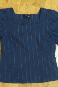 Bluzka Reserved rozmiar 38 len bawełna bufiaste rękawy bufki...