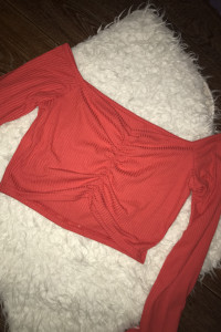 Bluzka czerwona top