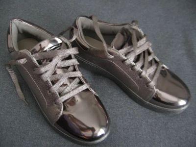 Półbuty Sportowe eleganckie buty typu snickers marki Vices rozmiar 37 38 beż złoty